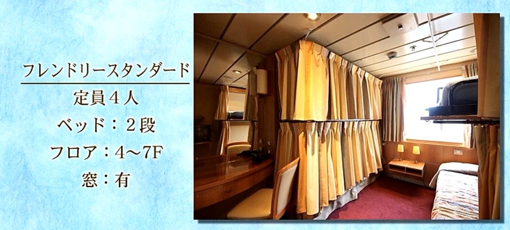 ピースボートのクルーザーの相部屋の様子