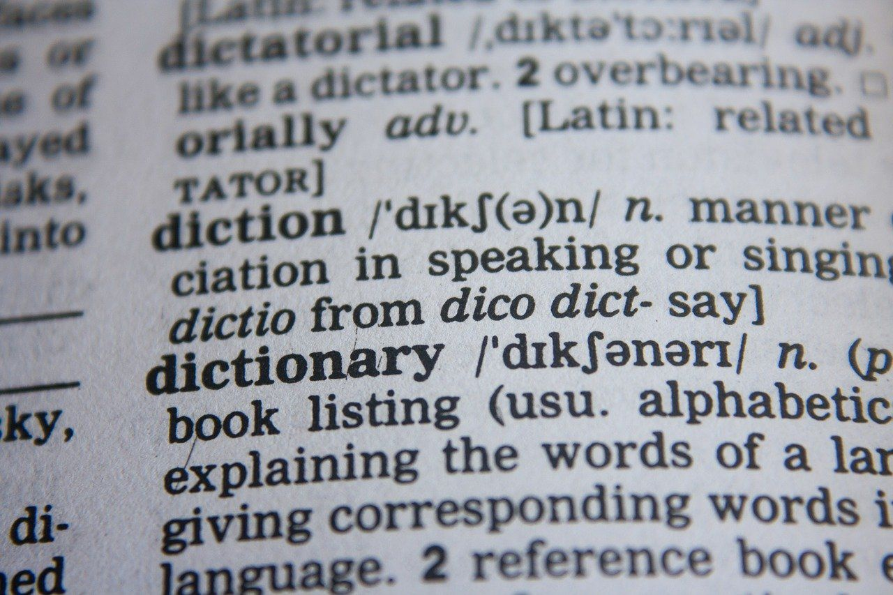辞書に書かれた英単語