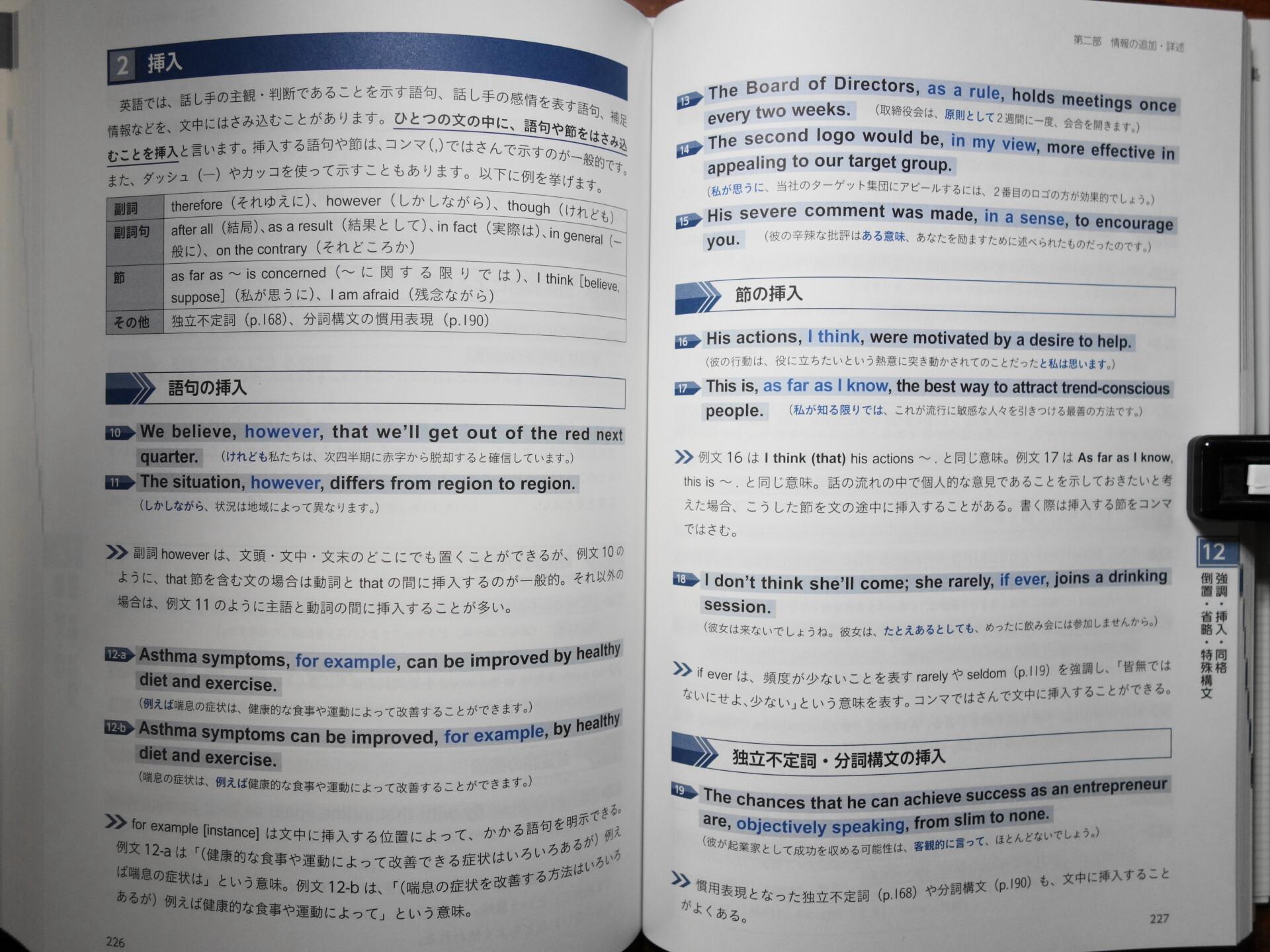 英文語句の用法