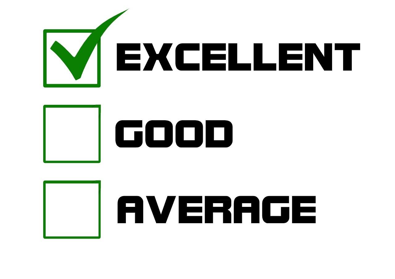 優,良,平均の評価チェックボックス