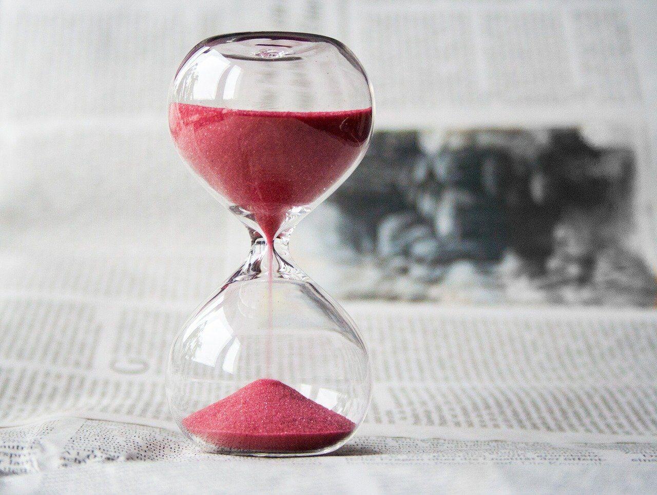 制限時間を測る砂時計
