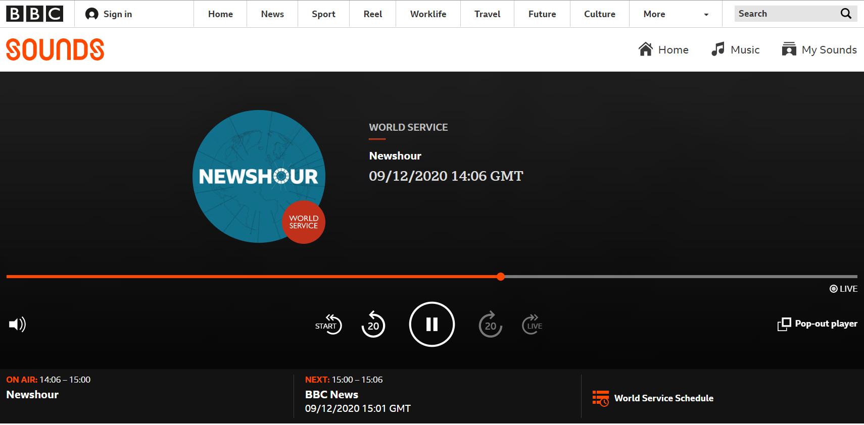BBCのラジオ