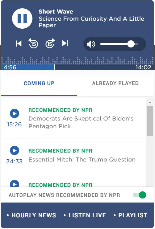 NPRのプレイヤー