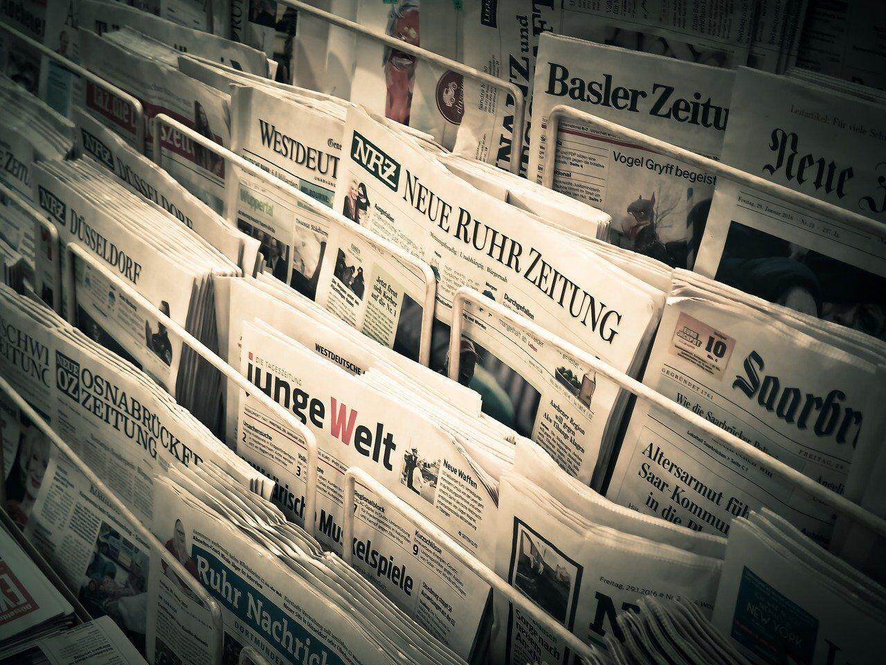 多くの新聞